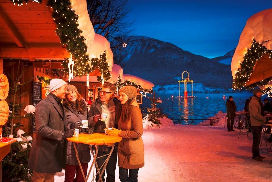 Advent u jezera Wolfgangsee